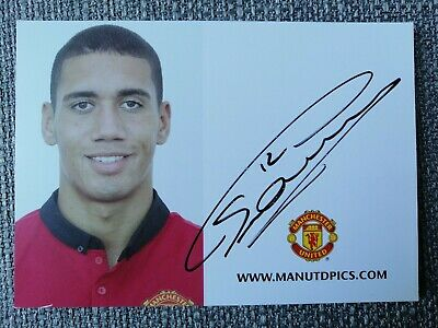 Chris Smalling Autogramm, Manchester United signed autograph card