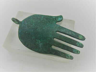 Detector Finds Ancient Phoenician Bronze Hand Amulet Wearable