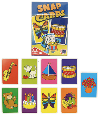HTI Snap Cards Fun Colourful Simple Card Game For Kids to Improve Memory
