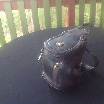 Small Leather Backpack - Zip Down Straps - Pineland Quality - Brown