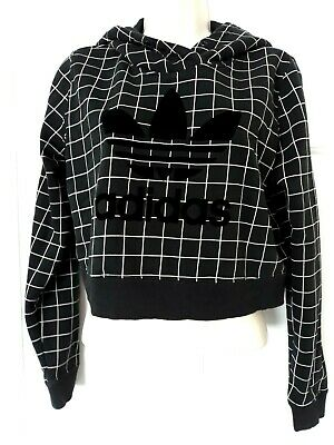 Adidas Cropped Hooded Top Size 6