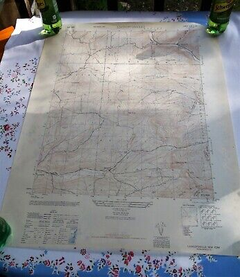 Livingstonville NY 1945 Original Vintage USGS Topo Map Broome Center Schoharie