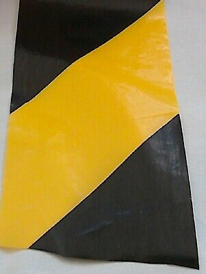 Warning Barrier Zebra Tape Boundary Hazard Non Adhesive Yellow Black 50M 70mm