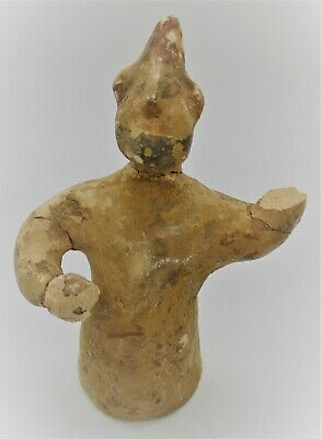 Ancient Greek Archaic Period Terracotta Soldier Statuette Ca 400Bce