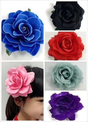 Large Rose Flower Hair Clip Bridal Hairpin Brooch Pin Wedding Bridesmaid Girls