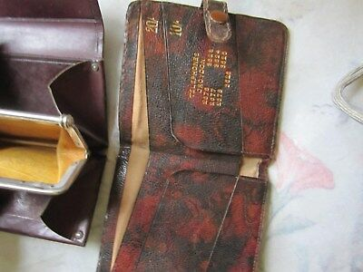 Two little old leather purses/wallets ladies  OLD ITEMS