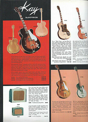 GENUINE Mid 1950's KAY GUITAR CATALOG PAGE AD