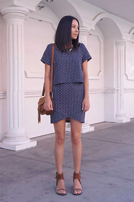 Everly Textured Polka Dot Two-Piece Dress