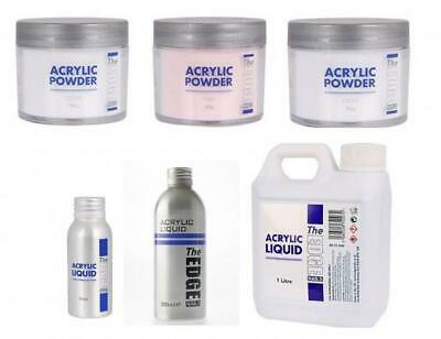The Edge Acrylic Powder and LiquidS - Clear Pink White - Individuals and combos
