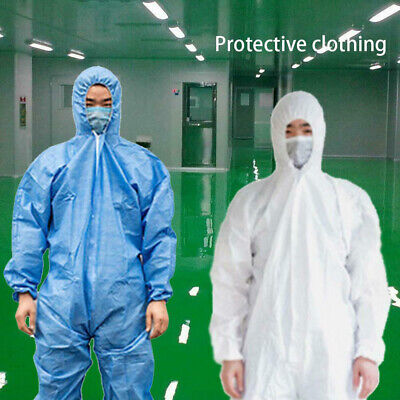 TYPE 5//6 SPRAY SUIT XXL DISPOSABLE HOODED COVERALL BLUE BODYSHOP PAINT