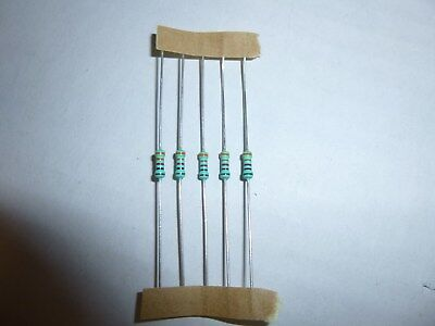 75 Ohm 1//8 Watt 1/% Metal Film Resistor 100 Pieces Prime Parts US Seller