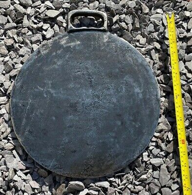 LARGE ORIGINAL VINTAGE TRADITIONAL WELSH BAKESTONE 13.5 Inch 4.4kg