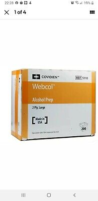 Webcol 5110 Covidien -Alcohol Prep Pads, Sterile, Large,  3 Boxes/600