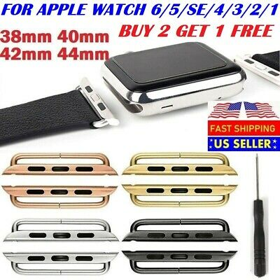 38mm 40mm 42mm 44mm Watch Band Connector Adapter Stainless Steel For Apple Watch
