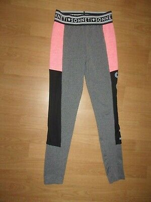 Sonneti First World Tour MMXV Silver Grey, Black & Pink leggings age 12-13 years