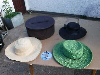 Hat  Box  &  3  Hats.  Free  Delivery.
