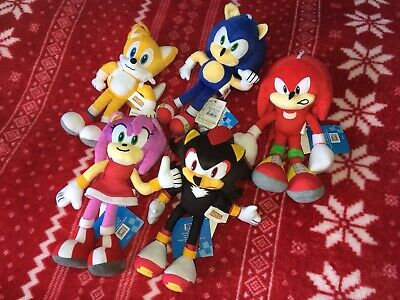 """NEW 8"""" Official SONIC THE HEDGEHOG Sonic Plush SEGA Toy 2020 THAILAND IMPORT"""