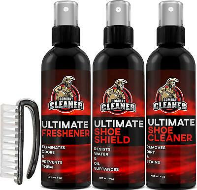 Ultimate Shoe Cleaner Kit By Combat Cleaner | Shoe Cleaner + Shoe Deodorizer Spr