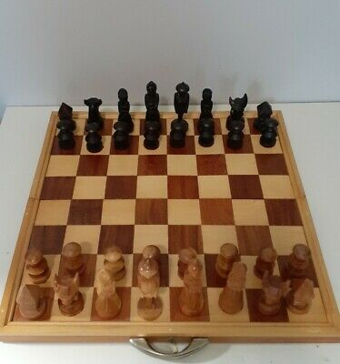 Maria Clara Wooden Chess Set Hand Carved Philippines