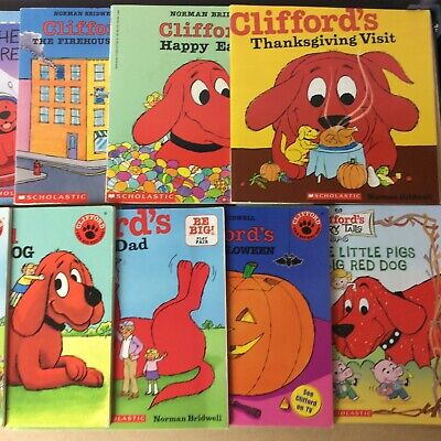 Lot of 10 Clifford The Big Red Dog Bridwell Children Kids Books MIX UNSORTED