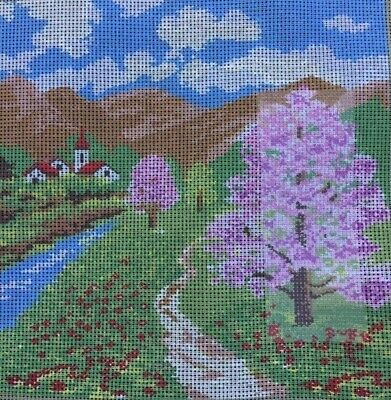 Tapestry - Printed Canvas - Flowering Trees - Made in Italy for Coats Patons