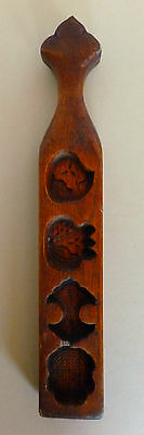 Antique Chinese Wood Cake Cookie Mold Hand Carved Traditional Small Sweets C1920