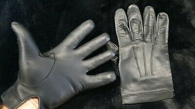 Mens leather gloves Dress unlined Dents quality lamb leather Size 8