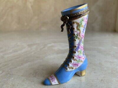 France Limoges Trinket Box Boot Ltd. Ed. 47/500