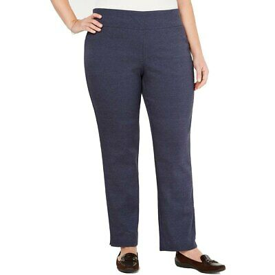 Charter Club Womens Pants Blue Size 18W Plus Pull-On Slim-Leg Stretch $79 203
