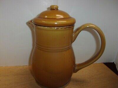 Sabatier Cannes Gold Stoneware Coffee Chocolate Pot Excellent