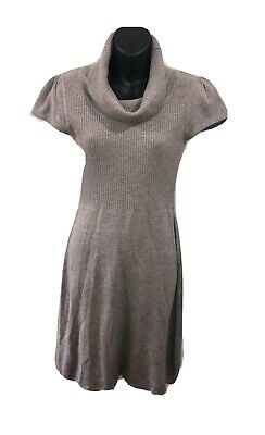 Calvin Klein Womens Short Sleeve Sweater Dress Gray Size Small