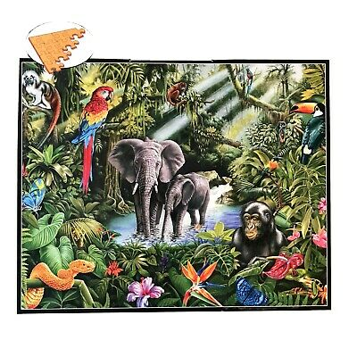 """Guided Through The Jungle - 500 Piece Puzzle - Bits & Pieces - Size 16"""" X 20"""""""