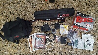 Canon EOS Rebel T3 Digital SLR Camera / EF-S 18-55mm IS Lens Tripod Bag EXTRAS!!