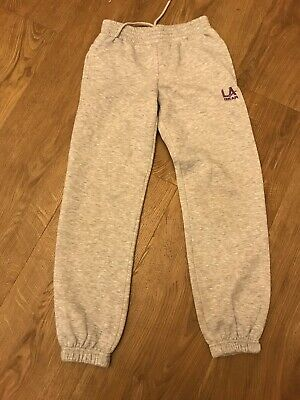Grey La Gear Unisex Jogging Bottoms Aged 9-10 Years  Joggers
