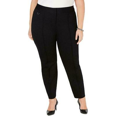 Alfani Women's Pants Black Size 20W Plus Pintuck Skinny Leg Stretch $79 287