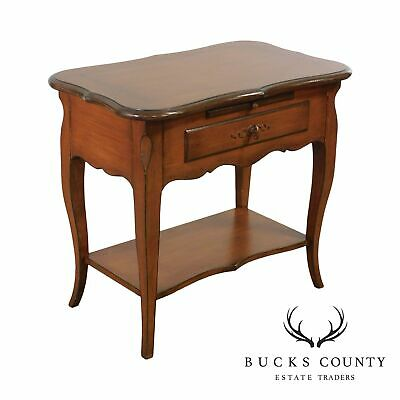 Baker French Country Style Painted one Drawer Nightstand