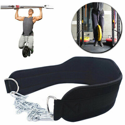 Weight Lifting Chain Belt Dipping Belt Pull Up Chin Up Barbell Bodybuilding Gym