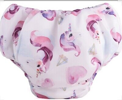 Mother ease Cloth Diapers Bed Wetter Pant Medium Pull Up UNICORN