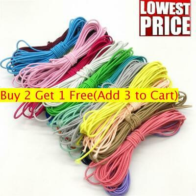 3mm 10m New Colorful Nylon Elastic Band Round Rubber Sewing Rope DIY Line
