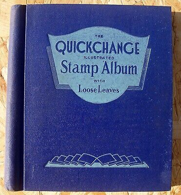 Interesting Vintage Stamp Album With Hundreds Worldwide Stamps Up To 1950