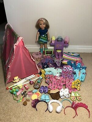 Huge American Girl Wellie Wishers Doll Collection - Must See!