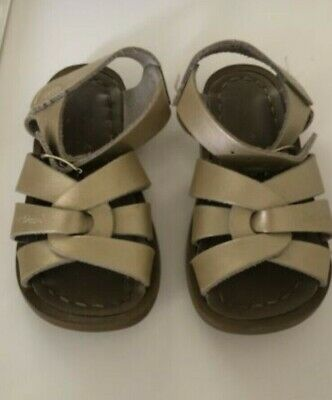 Saltwater Sandals Toddler Girls Size 6 gold