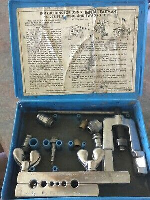 Imperial Eastman Tools No. 275-Fs Flaring And Swaging Tube Working Kit Usa