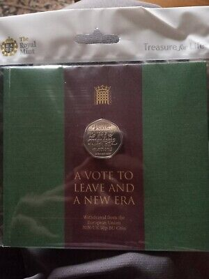 Withdrawal from the European Union 2020 UK 50p Brilliant Uncirculated Coin