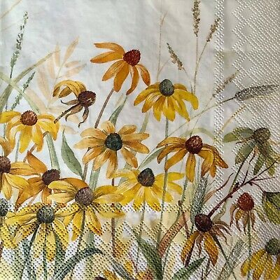 4 Paper Napkins for Decoupage/Parties/Weddings - Coneflowes