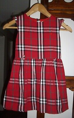 BURBERRY London Multi Coloured Checked Girl's Cotton Dress - Size 17