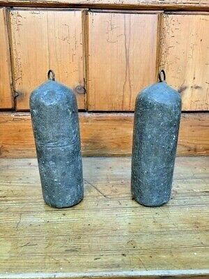 2 x Antique Long Case/Grandfather Clock Lead Weights