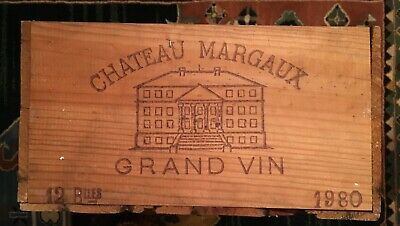 1980 Rare Vintage Margaux Grand Vin $5,376 WHEN FULL: THIS EMPTY/collector/decor