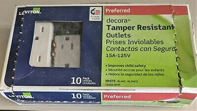 LEVITON TAMPER RESISTANT OUTLETS 15A-125V NEW Open Box Lot of 7