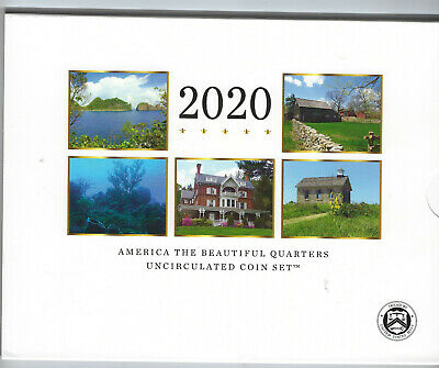 USA: America the Beautiful Quarters Uncirculated Coin Set 2020, Mint D + P